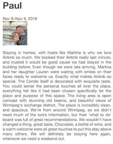 Thank you very much Paul. We appreciate that guests like yourself experience how special this space is.