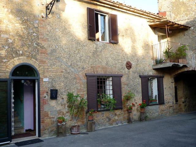 toscan stonehouse near hotsprings - Monticiano - House
