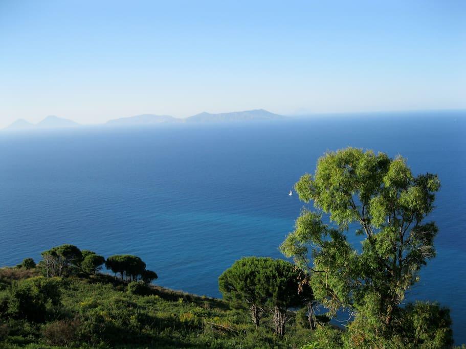 The Aeolian Islands from Casa Jare's Veranda