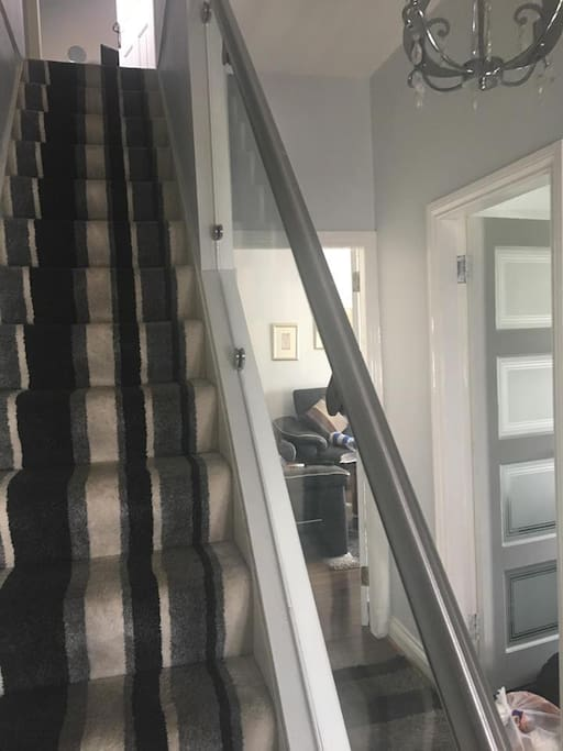 Stairs up to the Bedroom