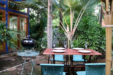 Enjoy your own private garden with bbq