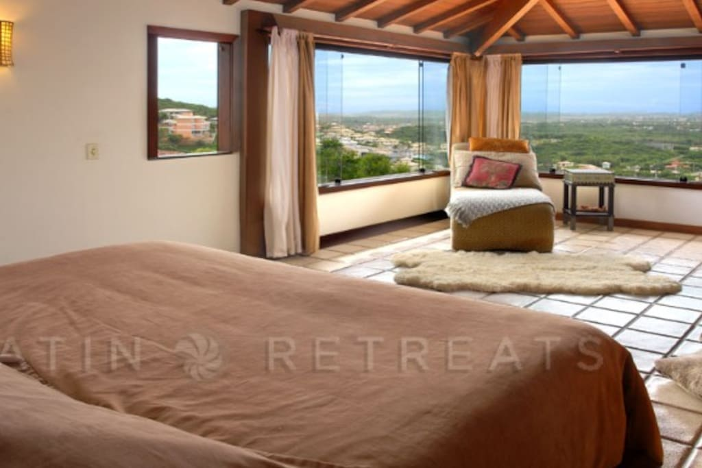 X large master bedroom with view
