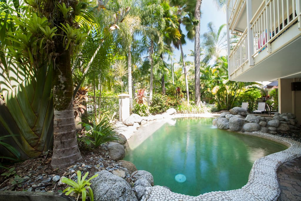 One of two swimming pools in complex