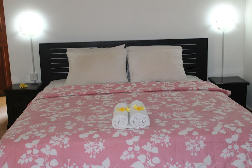 Queen size Bed with Daily maid service