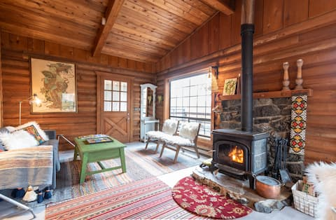 Quintessential Hygge: A Romantic Nordic Log Cabin