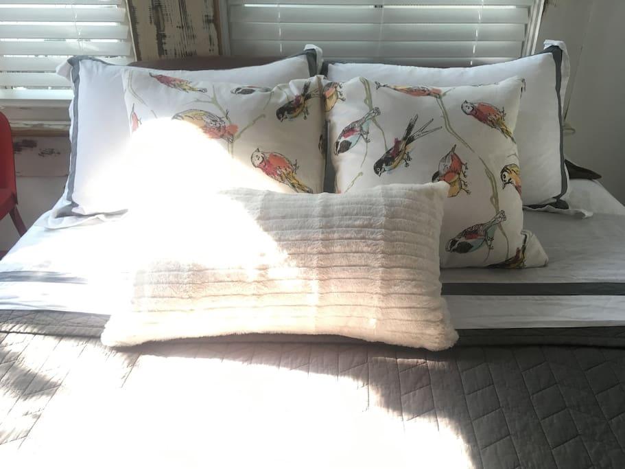 Comfy, quality linens.