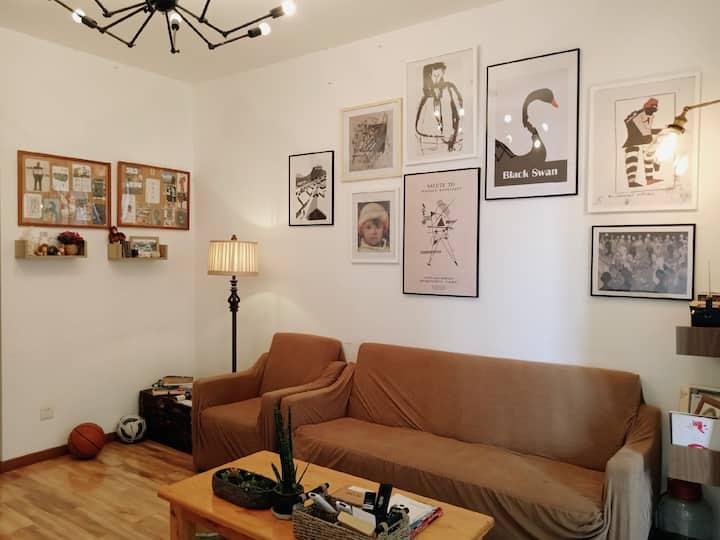 苔山|一室一厅|近张公桥美食街乐山大佛景区旁|民宿