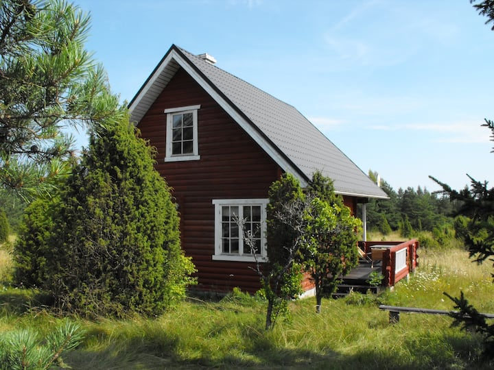Loghouse on the island of Hiiumaa