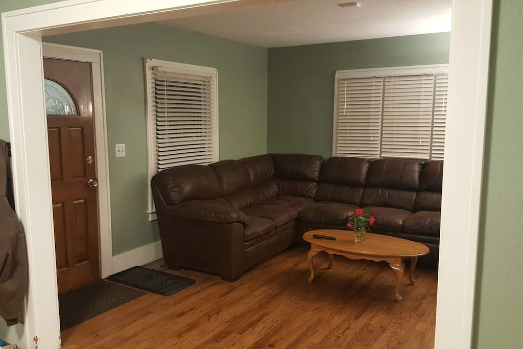 Front Entrance & Living Room