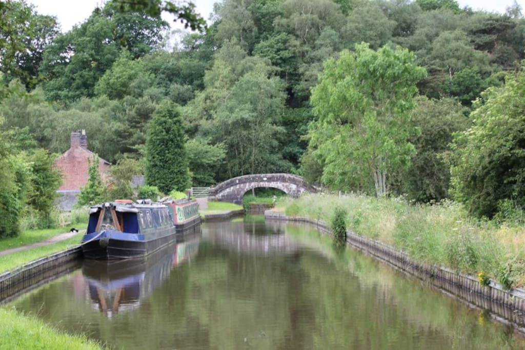 Moored near Leek on the Caldon Canal