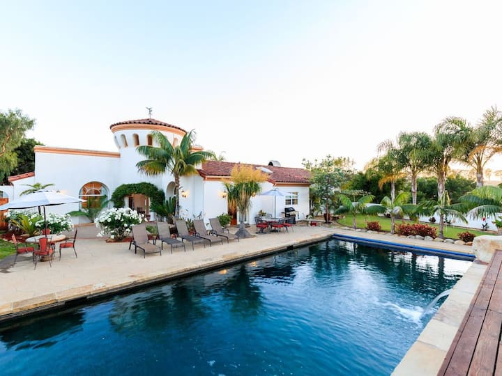 Stunning 25 Acre Gated Private Santa Barbara Estate, Salt Water Pool, and Spa