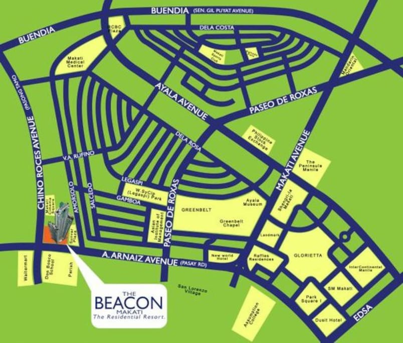 Vicinity Map of The Beacon
