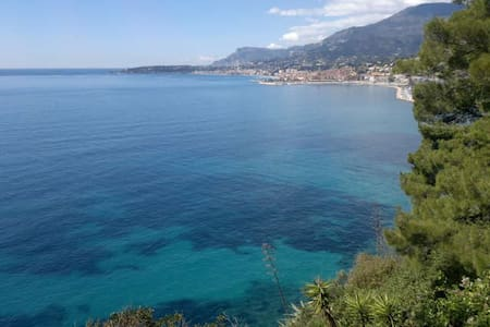 Doube bedroom beachfront - Bordighera - アパート