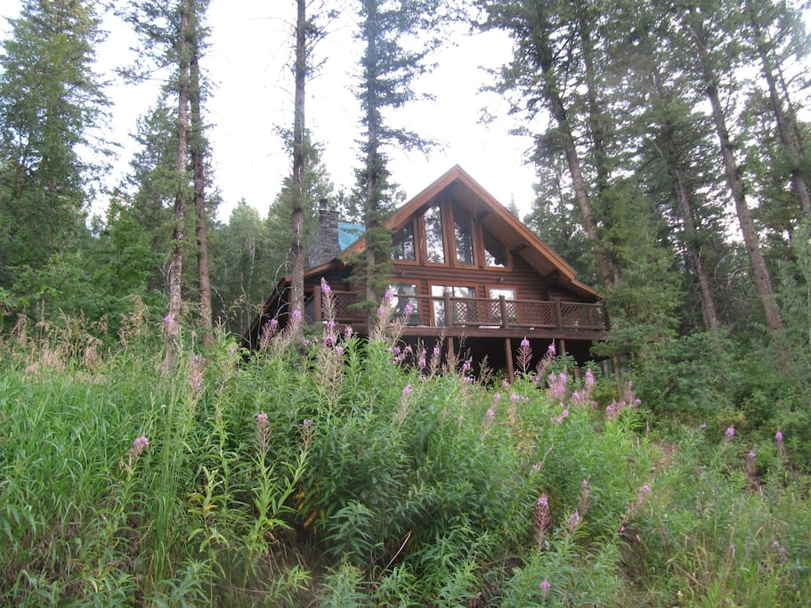 Great Log House In Alpine Wyoming Cabins For Rent In