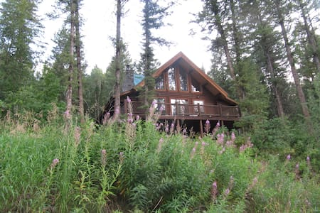 Great Log House in Alpine, Wyoming - Alpine - Cabane
