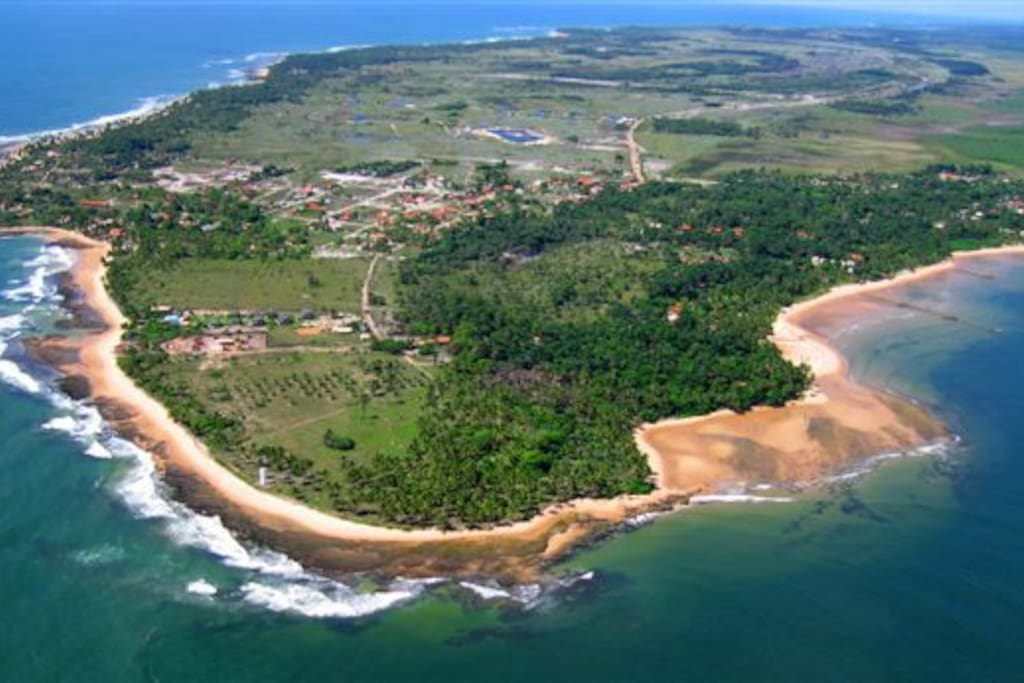 Ponta do Muta, the tip of Peninsuala de Marau ( picture before the house was built)