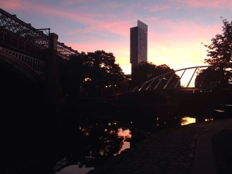 Castlefield view at sunrise
