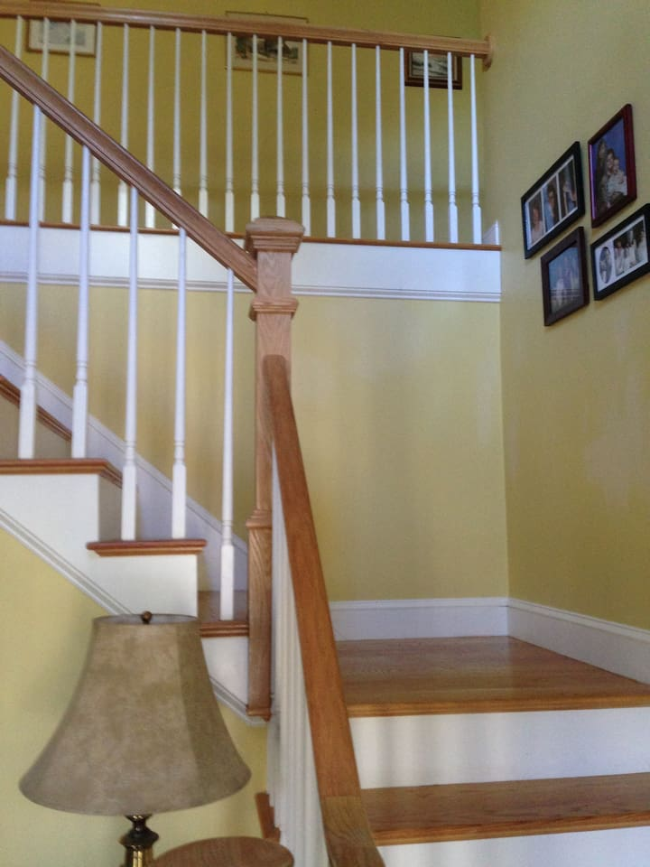 Front Stairway to upstairs bedroom.