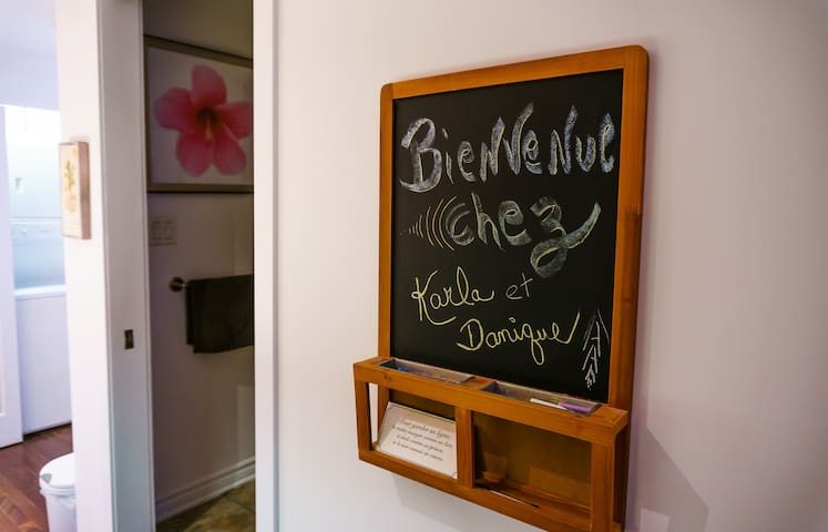 Bienvenue chez nous! Welcome at our place!