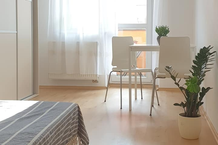 Modern flat near city center with a coffee for you