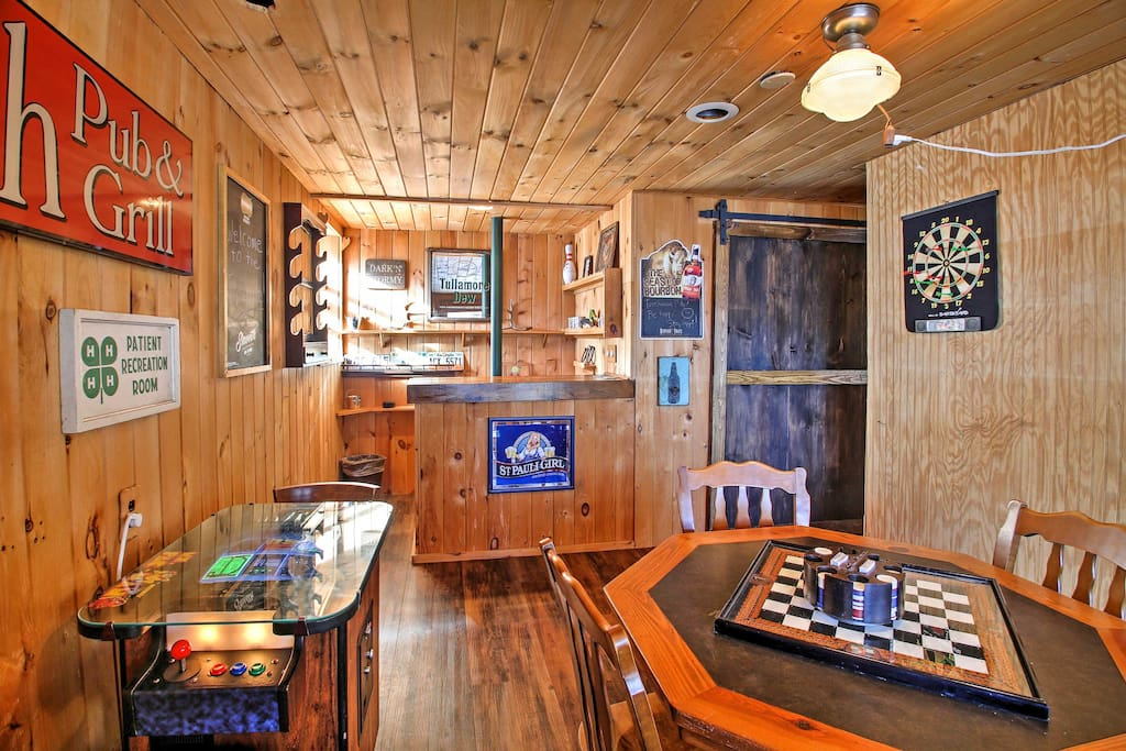 The new game room offers darts, poker, and arcade game with over 40 games.
