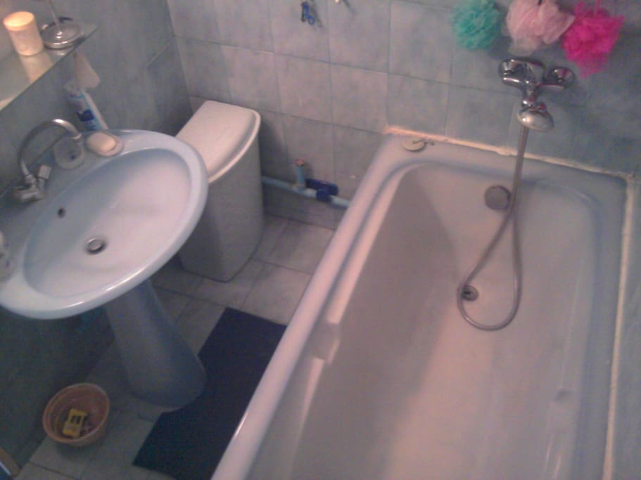 salle de bain eau chaude  pour tout le monde