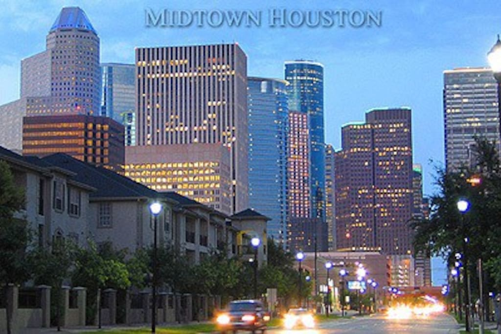 View from Midtown gives you clear vision of Downtown Houston