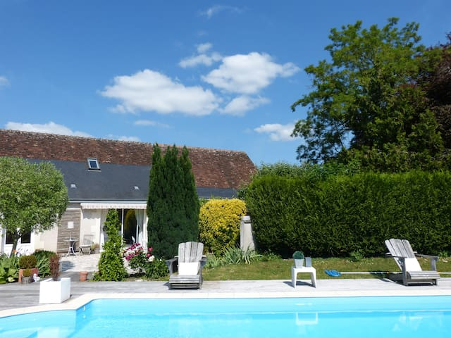 Maison indépendante avec billard et accès piscine - Parçay-Meslay