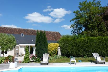 Maison indépendante avec billard et accès piscine - Parçay-Meslay - Huis