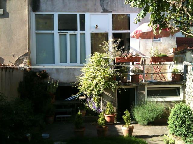 appartement en rez de jardin, jardin privatif  été