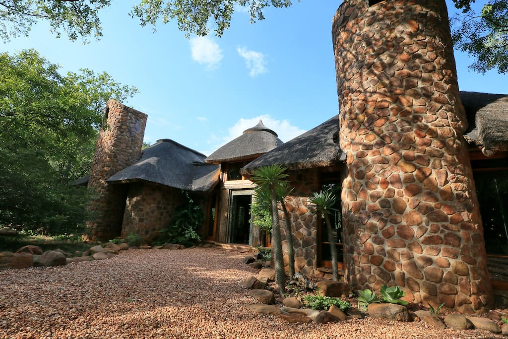 Entrance to Tsheppe lodge, a home away from home