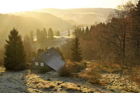 Vlčí Hora cottage in wilderness