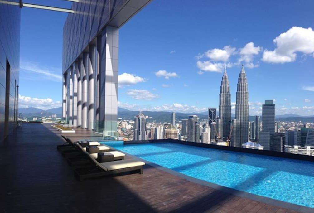 Sky Pool Apartment Near Klcc Twin Towers Flats For Rent