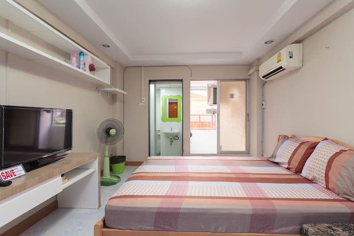 10 minutes walk from MRT to room