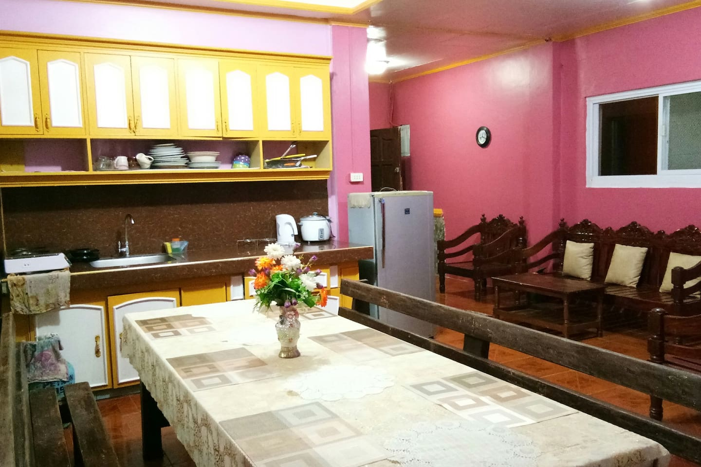 Unit#1 (1F) * dinning and kitchen area