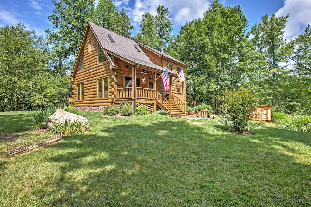 This classic log cabin is the perfect setting for your next large gathering or special event.
