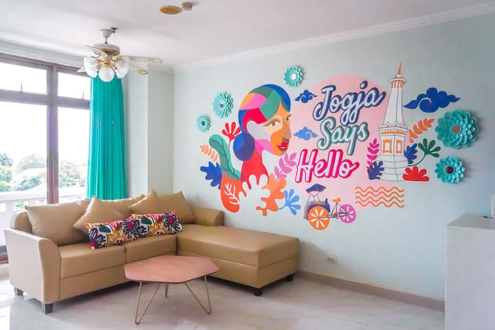 Jogja Says Hello 2-Bedroom Instaworthy Apartment