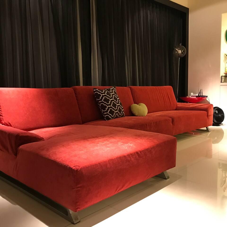 舒適的客廳及沙發