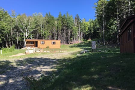 Luxury cabin, secluded 24 acres on VAST trails - Whitingham - Blockhütte