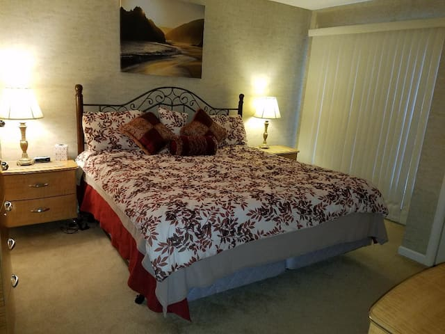 Master Bedroom with Linens and blankets