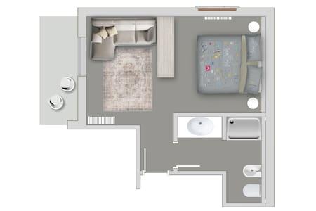 Grey Room-Family Room-Included Breakfast - Costa Volpino - Villa - 1