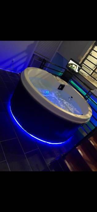 Lighted Hot tub