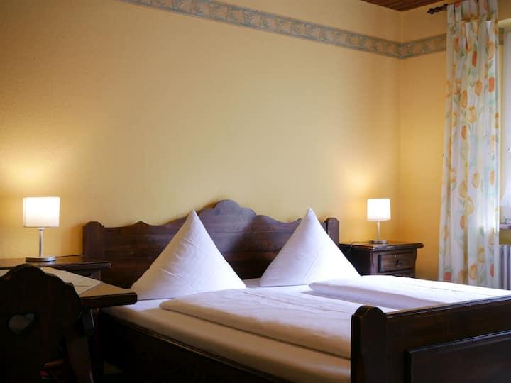 Seebach-Hotel, (Seebach), Doppelzimmer mit Balkon, 24qm, max. 2 Person