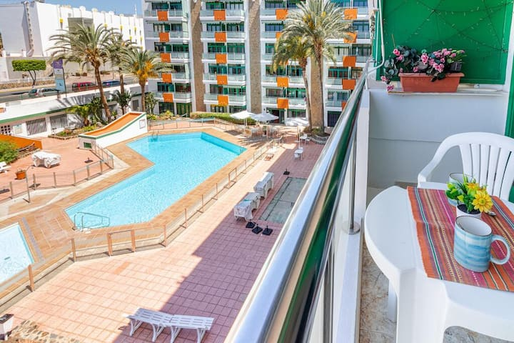Apartmento con piscina 1 min de la playa & Dunas☀