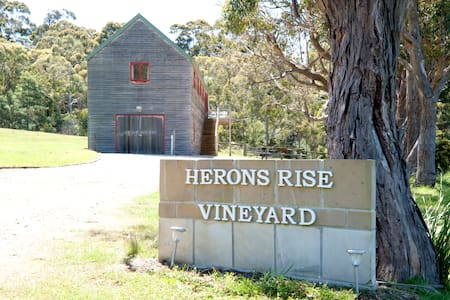 Herons Rise Vineyard  Accommodation- The Wine Loft - Kettering