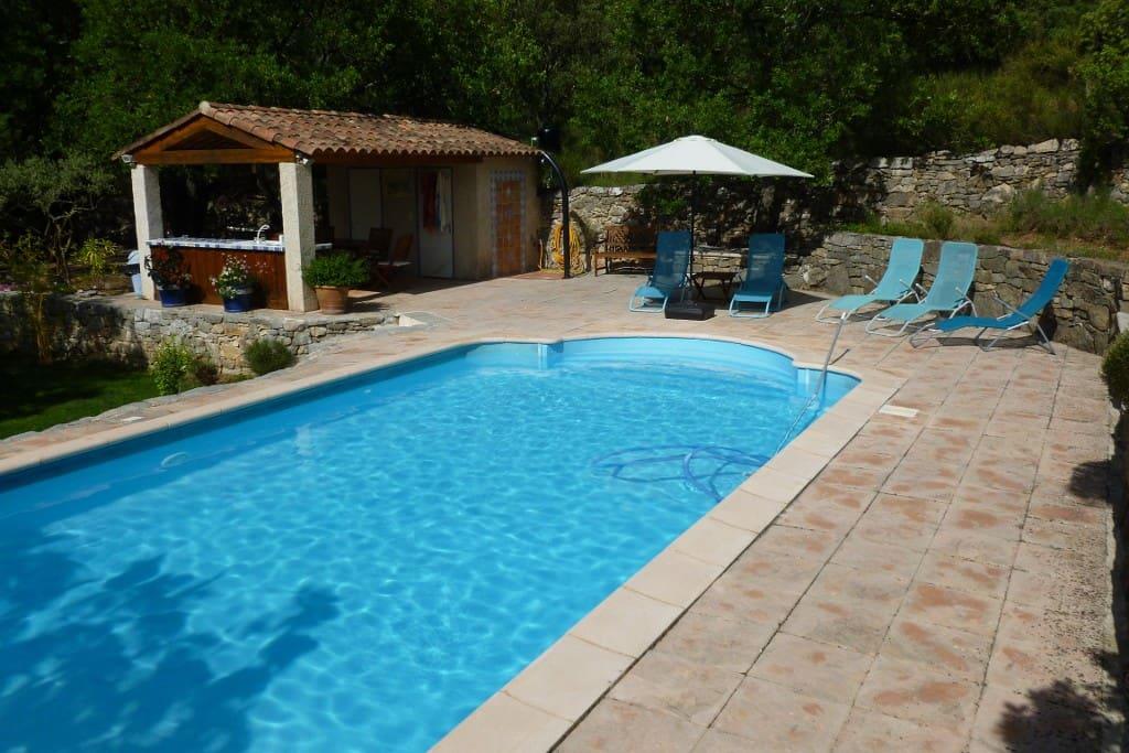La piscine de 8mx4m