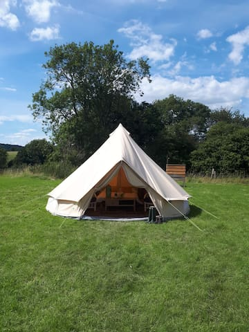 Bell Tent with a Stunning View of the South Downs