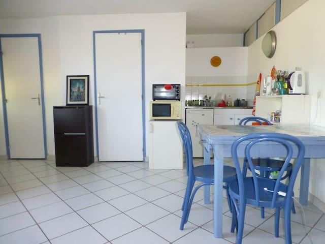 studio indépendant rez de chaussée - Saint-Romain-en-Gal - Apartment