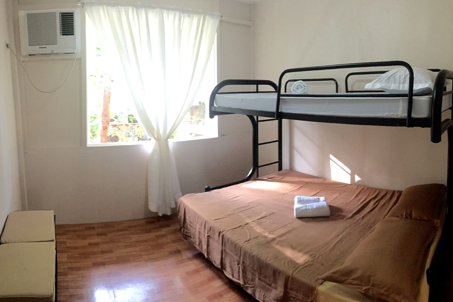Balay ti Wayawaya (Family Room, 3pax) - Queen bed with single bed.  ₱1,800 Per Night.