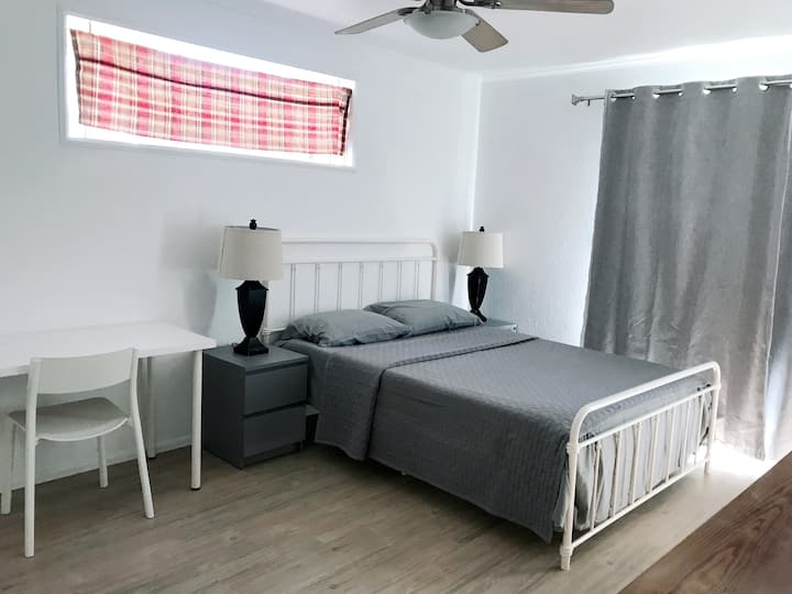 New Bedroom with Shared Bathroom
